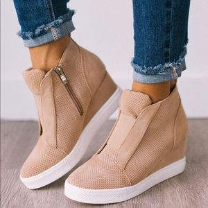 New Ccocci Zoey Wedge sneaker oatmeal
